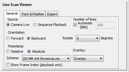 Line Scan Viewer Module